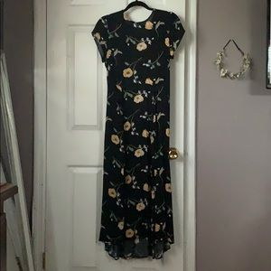 UO- Floral Midi Dress with Tie Back.